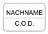 Nachname / Cash on Delivery
