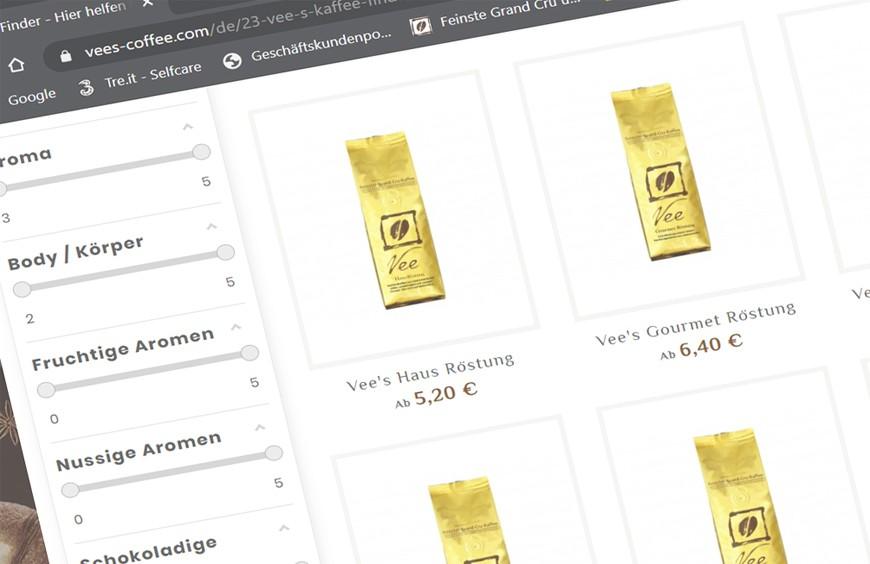 New: Vee's Coffee Finder